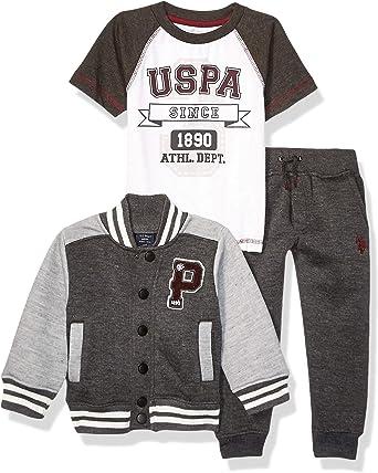 Boys T-Shirt U.S Polo Assn Vest and Pant Set