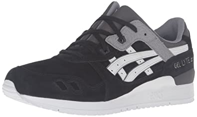 7e8964ffadbba Onitsuka Tiger by Asics Unisex Gel-Lyte III? Black/Soft Grey Sneaker Men's  10, Women's 11.5 Medium