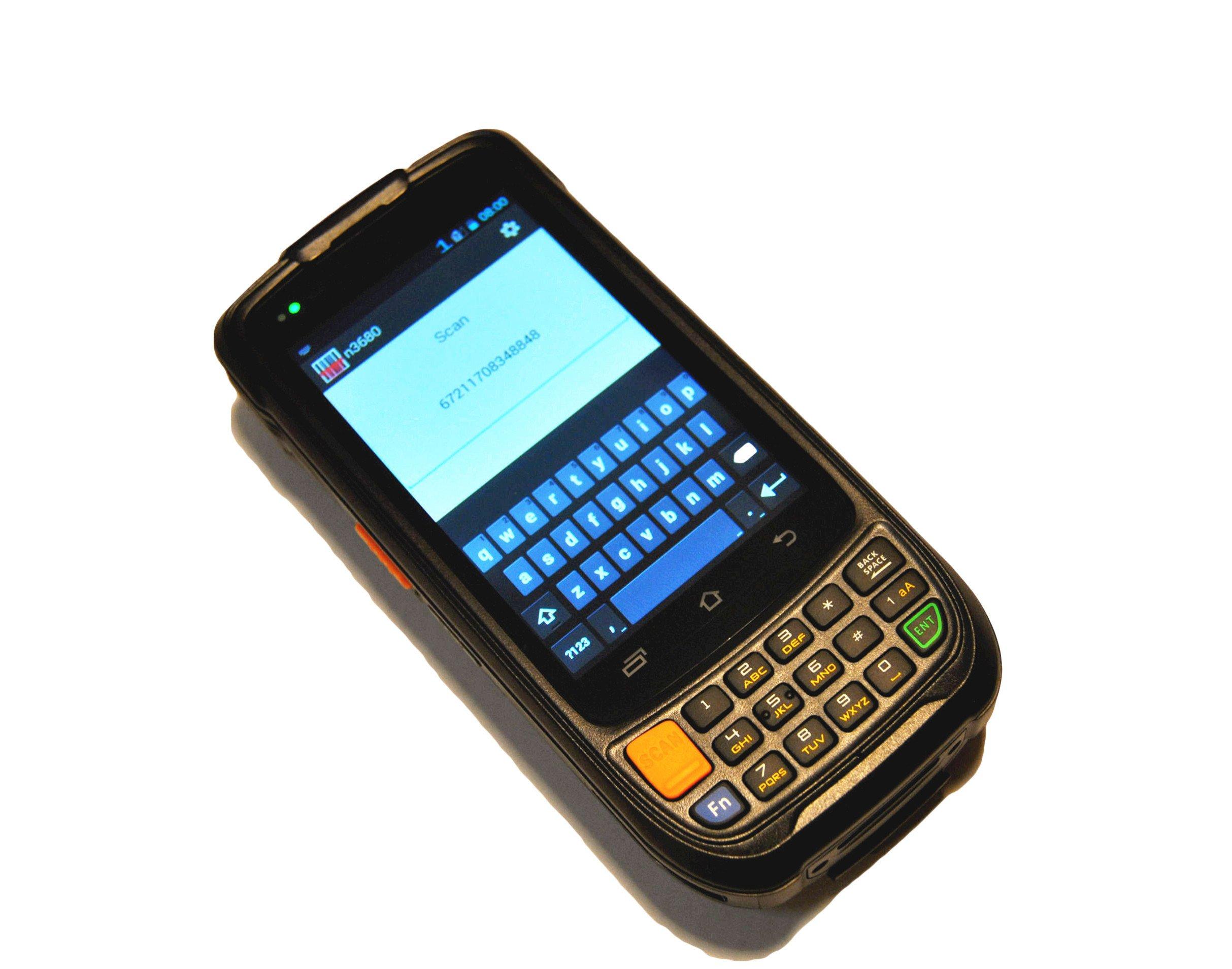 Cruiser@ Handheld Barcode Scanner PDA with Motorola Symbol 1D Laser Scan Engine, RFID reader / NFC, 802.11b/g/n, GSM/GPRS/WCDMA, Charging Cradle Included