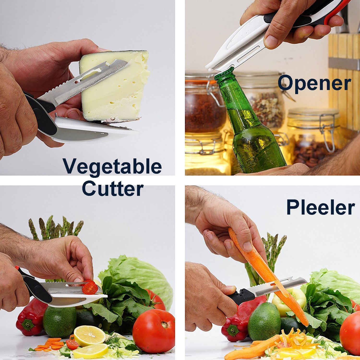 Amazon.com: Szresm 6-in-1 Clever Cutter Food Chopper - Stainless ...