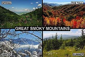 SOUVENIR FRIDGE MAGNET - GREAT SMOKY MOUNTAINS USA 3½ x 2½ inches Jumbo