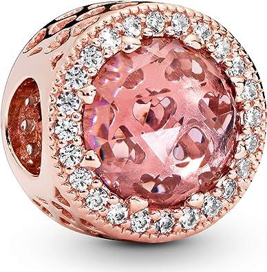 Pandora Jewelry Sparkling Blush Pink Crystal and Cubic Zirconia Charm in  Pandora Rose