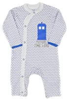 Baby Boys Doctor Who 'Future Timelord'Footless Sleepsuit Newborn to 18-24M BNWT