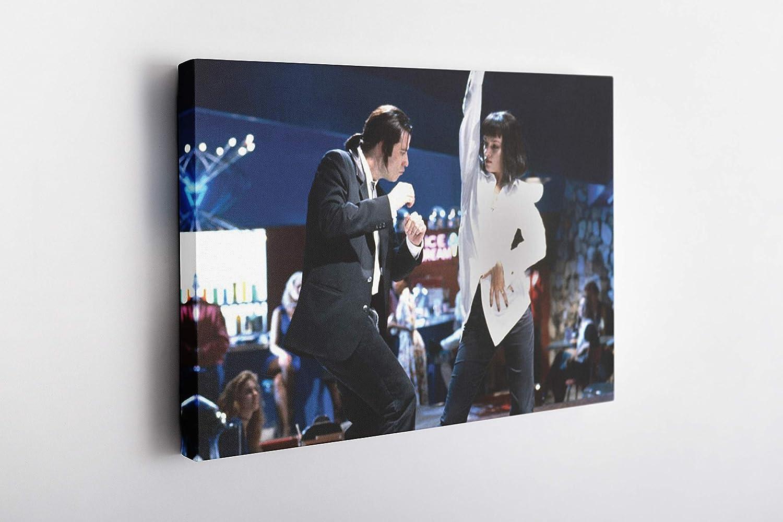MW MERWEZI Pulp Fiction Poster Dancing Canvas Wall Art Home Decor Framed Art (45