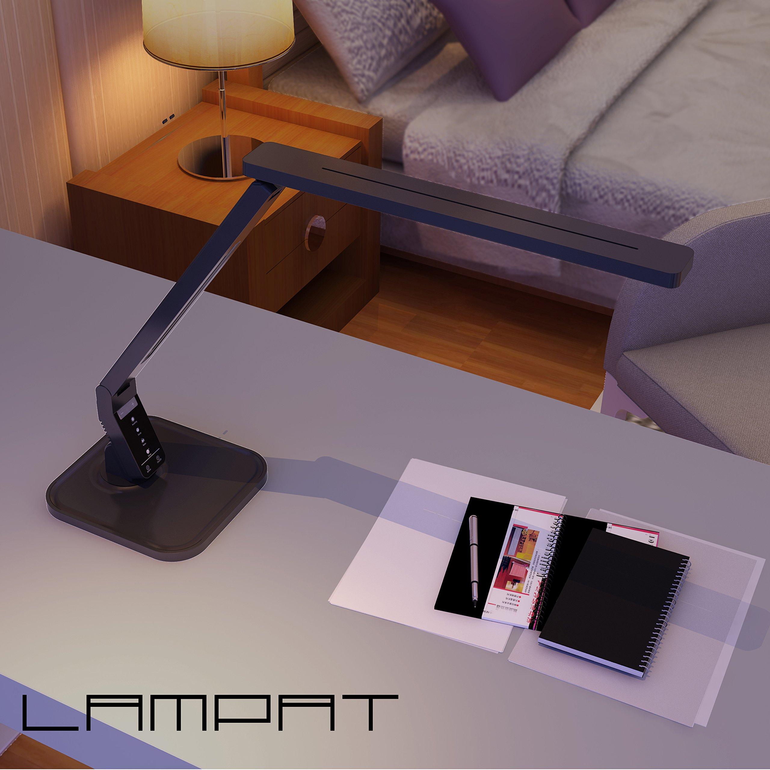 Lampat Led Desk Lamp Dimmable Led Table Lamp Black 4