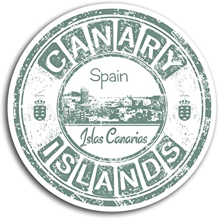 2 x 10 cm Islas Canarias España - pegatinas de vinilo etiqueta de equipaje portátil # 19493 (10 cm de ancho): Amazon.es: Hogar