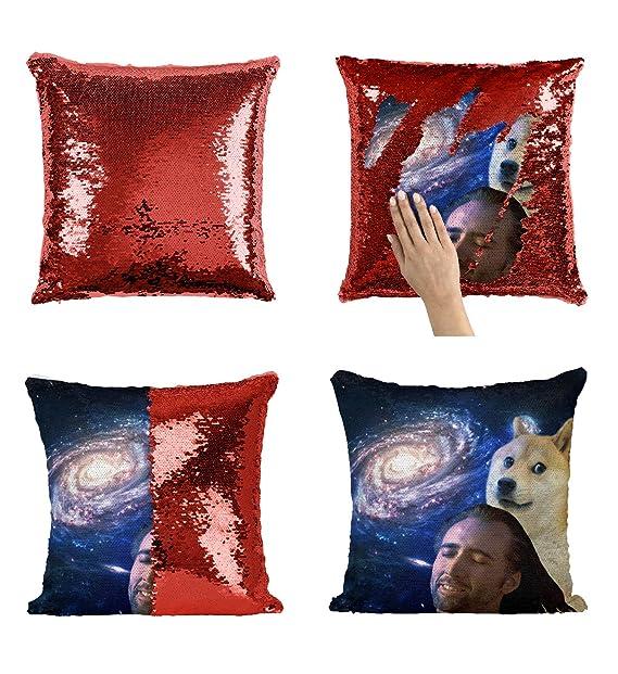 Amazon.com: Mona Lisa Nicolas Cage P116 - Almohada de ...