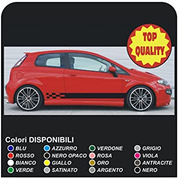 SIDE STICKERS STRIPES FOR FIAT GRANDE PUNTO EVO Sport 1 2