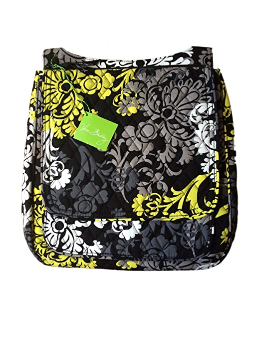 6d2bb7a1692b Buy Vera Bradley Mailbag Cross-Body In Baroque with Solid Black Interior Online  at Low Prices in India - Amazon.in