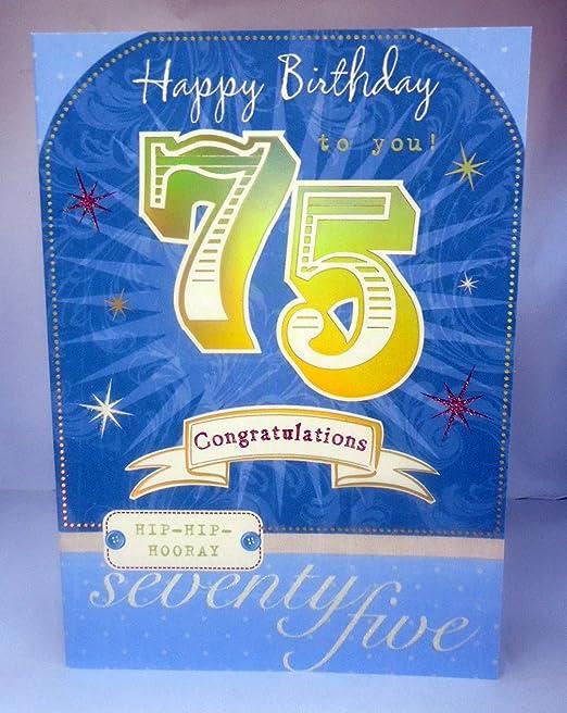 Feliz cumpleaños 75 Felicidades preciosa brillante moderno ...
