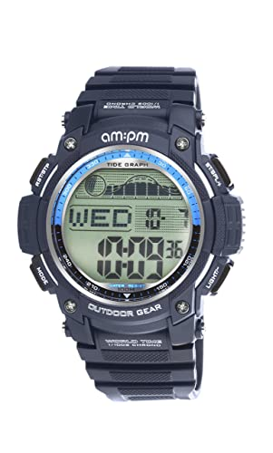 AM: PM pc168-g411 hombre Outdoor Gear azul Digital marea reloj de pulsera deportivo: AM:PM: Amazon.es: Relojes