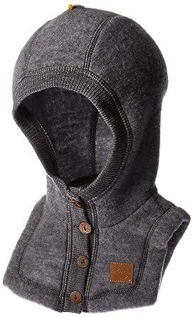 978a59182fbc Mikk-Line Baby Wool Kapuzenmütze Hat, Grey (Melange Grey 916), 47