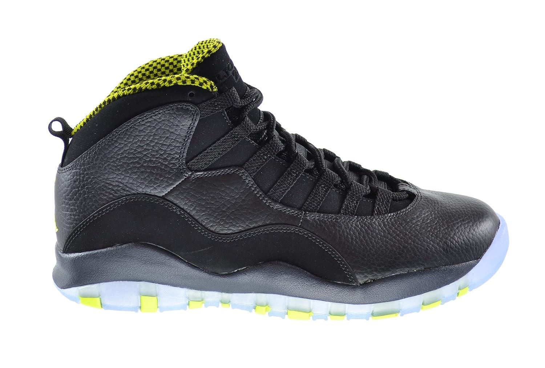 quality design 94688 a00e2 Jordan Air Retro 10 Men's Basketball Shoes Black/Venom Green-Cool  Grey-Anthracite 310805-033