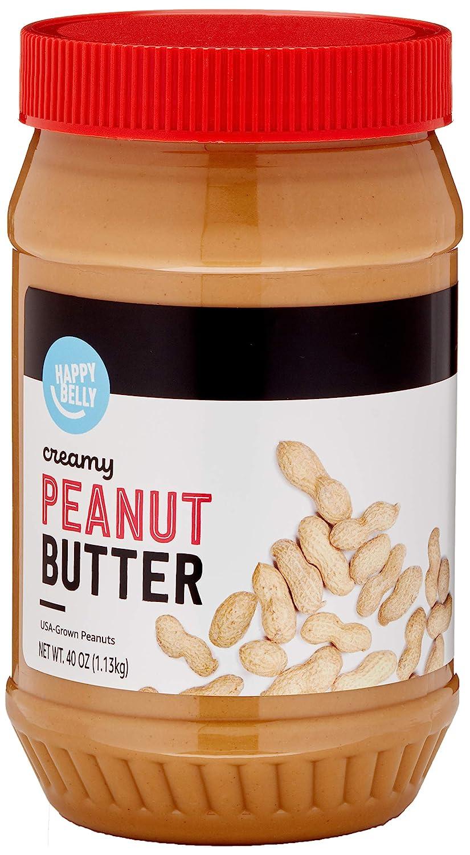 Amazon Brand - Happy Belly Creamy Peanut Butter, 40 Ounce