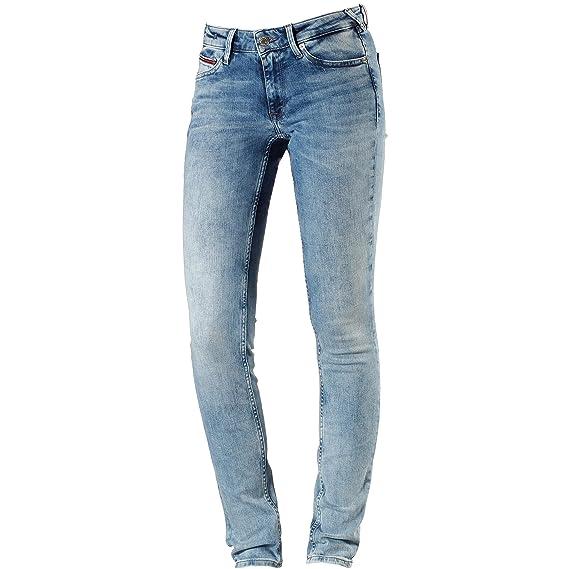 Jean skinny bleu clair taille basse femme TOMMY HILFIGER