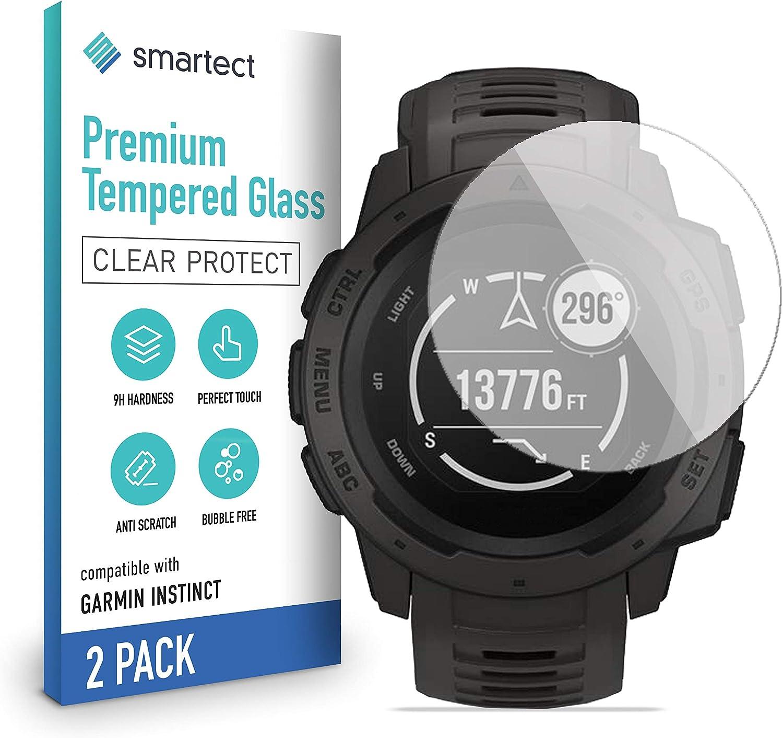 Smartect Schutzglas Kompatibel Mit Garmin Instinct 2 Stück Tempered Glass Mit 9h Härte Blasenfreie Schutzfolie Anti Kratzer Displayschutzfolie Elektronik
