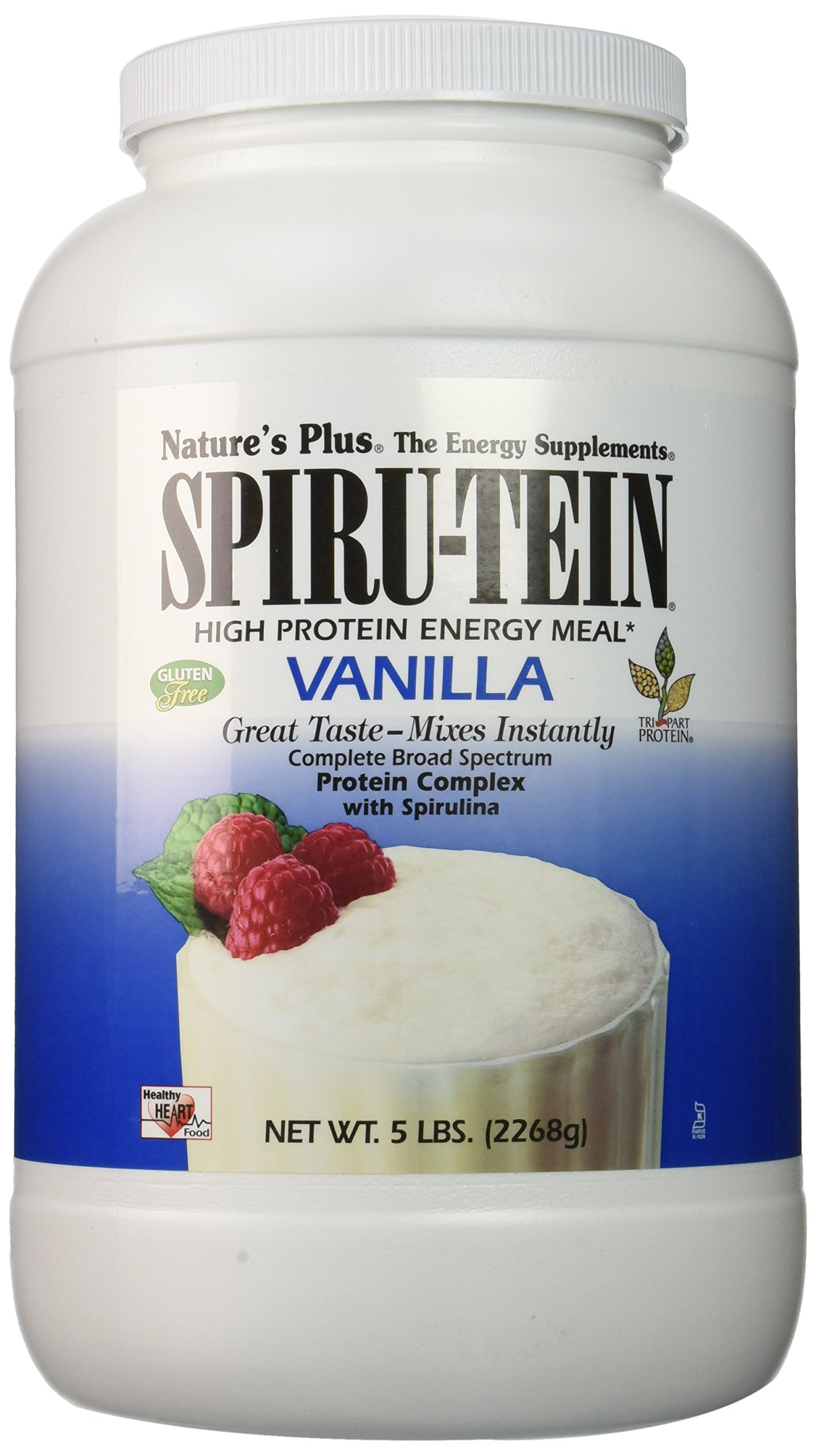 Nature's Plus - Vanilla SPIRU-TEIN Shake, 5 lbs Powder
