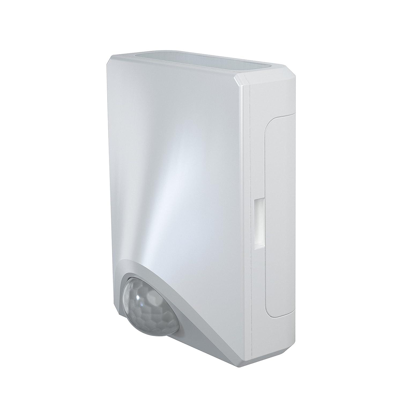 Osram Door LED Down Batteriebetriebene Leuchte, für Außenanwendungen, Bewegungssensor, Tag-Nacht-Sensor, Kaltweiß, 102, 5 mm x 92, 4 mm x 36, 5 mm Kaltweiß Ledvance 4058075027275