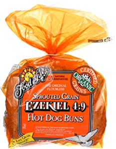 Food For Life Buns Hot Dog Ezekiel Organic, 16 Ounce (Pack of 6)