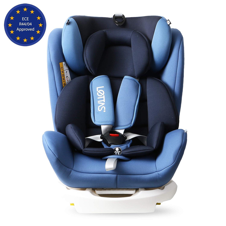 LETTAS Kinder Autositze Sitzschale Baby autositz 0+1/2/3 (0-36 kg) mit Protektoren seitliche Isofix ECE R44/04 LTCS906-IOSFIX-Purple