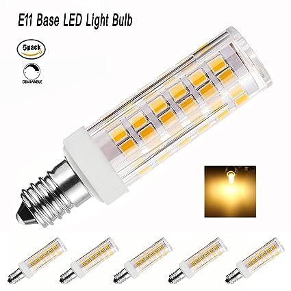 McDen LED Bulb E11 Dimmable 5 Watt Warm White 3000K Candelabra Base ...