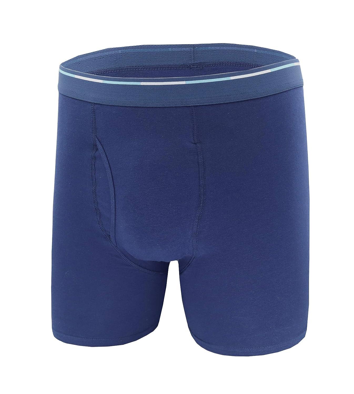 Comfneat Mens Boxer Briefs 6-Pack S-XXL Tagless Underwear Soft Cotton Spandex