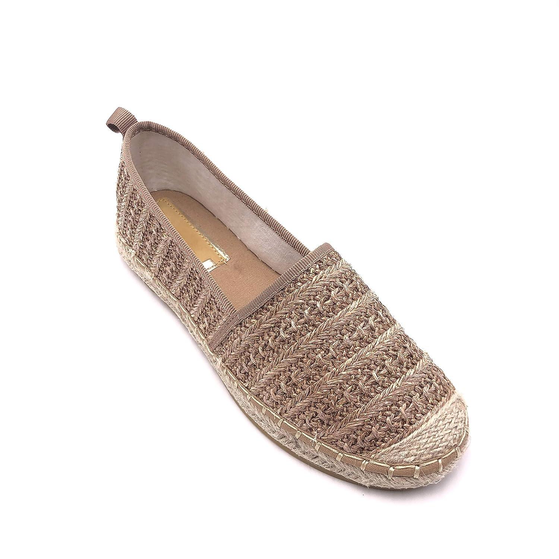 Zapatillas Moda Alpargatas Playa comode Planos Mujer Cuerda Trenzado con Paja tac/ón Plano 1 CM Angkorly