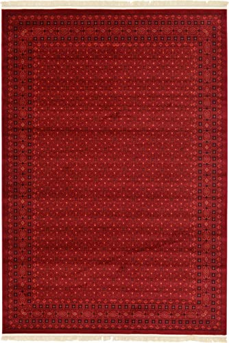 Unique Loom Tekke Collection Tribal Traditional Torkaman Red Area Rug 7 0 x 10 0