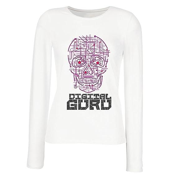 lepni.me Camisetas de Manga Larga para Mujer El Gurú Digital - Ideas de Regalos de Tecnología, computadora, Programador o Jugador: Amazon.es: Ropa y ...