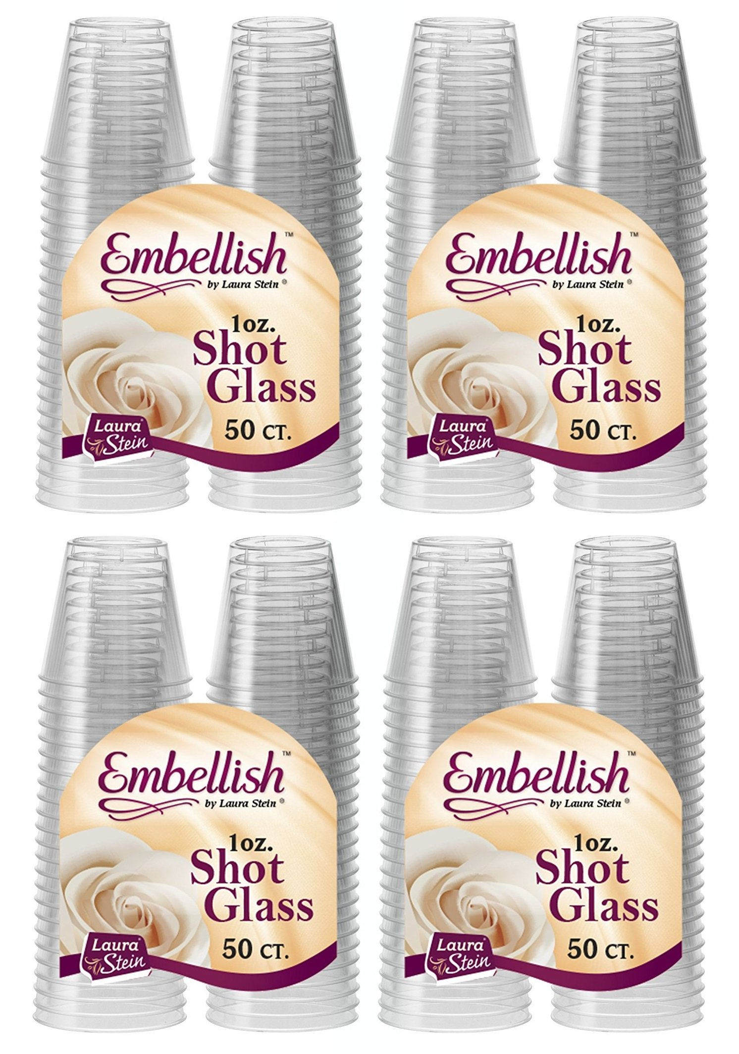Embellish Hard Plastic 1oz Clear Shot Glass 200 Count