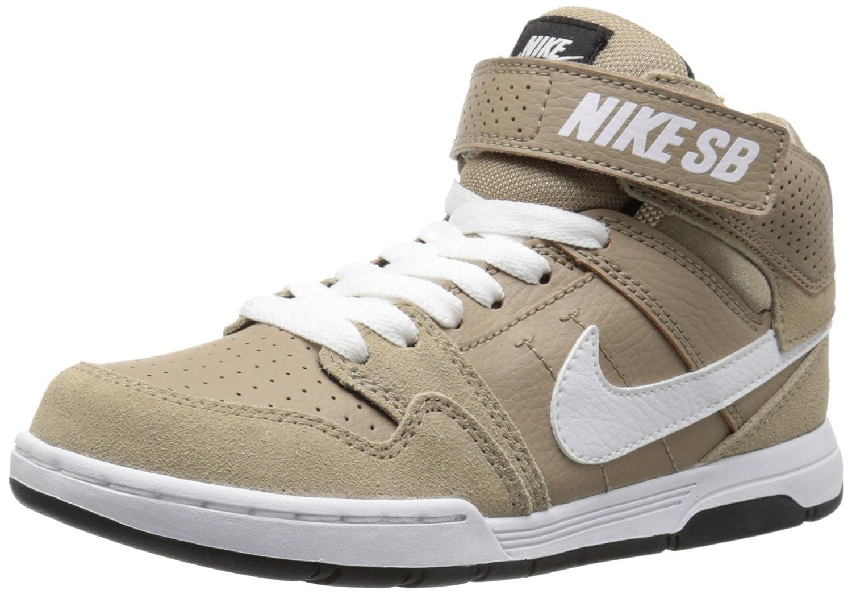 NIKE Kids' Mogan Mid 2 Jr Skateboarding Shoes 6.5 M US Big Kid|Khaki/White/Black/Pine Green