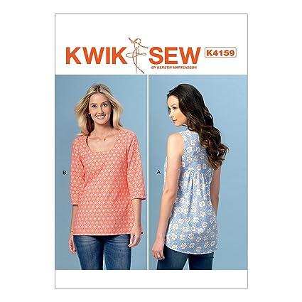 Amazon Kwik Sew Patterns K4159 Misses Gathered Back Tops All