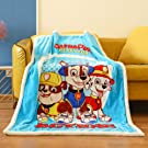 FairyShe Nickelodeon Paw Patrol Fleece Throw Blanket Baby Soft Warm Nap Blanket, Cartoon Coral velvet Thin Blanket ,For Bed Couch Chair Baby Crib Living Room