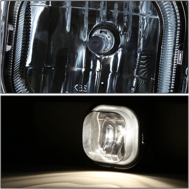 DNA Motoring FL-NS032-CH Driving Bumper Fog Light Replace for 06-07 Ford Ranger