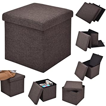 Sitzhocker Mit Stauraum costway sitzhocker mit stauraum sitzwürfel sitzbox sitzbank