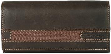 Tennessee Cartera XL de piel de ante engrasada, color:Marrón