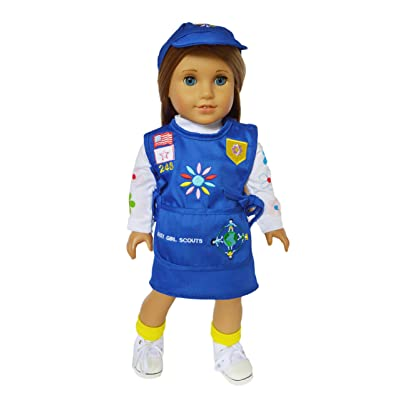 My Brittany's Girl Scouts Embroidered Daisy Outfit For American Girl Dolls- 18 Inch Doll Clothes