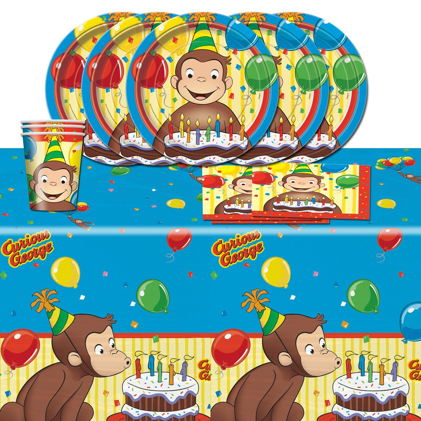 Curious George Personalized Edible Cake Topper Image 1 4 Sheet