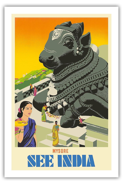 Pacifica Island Art Mysore-Vea la India-Sentado Toro Nandi ...