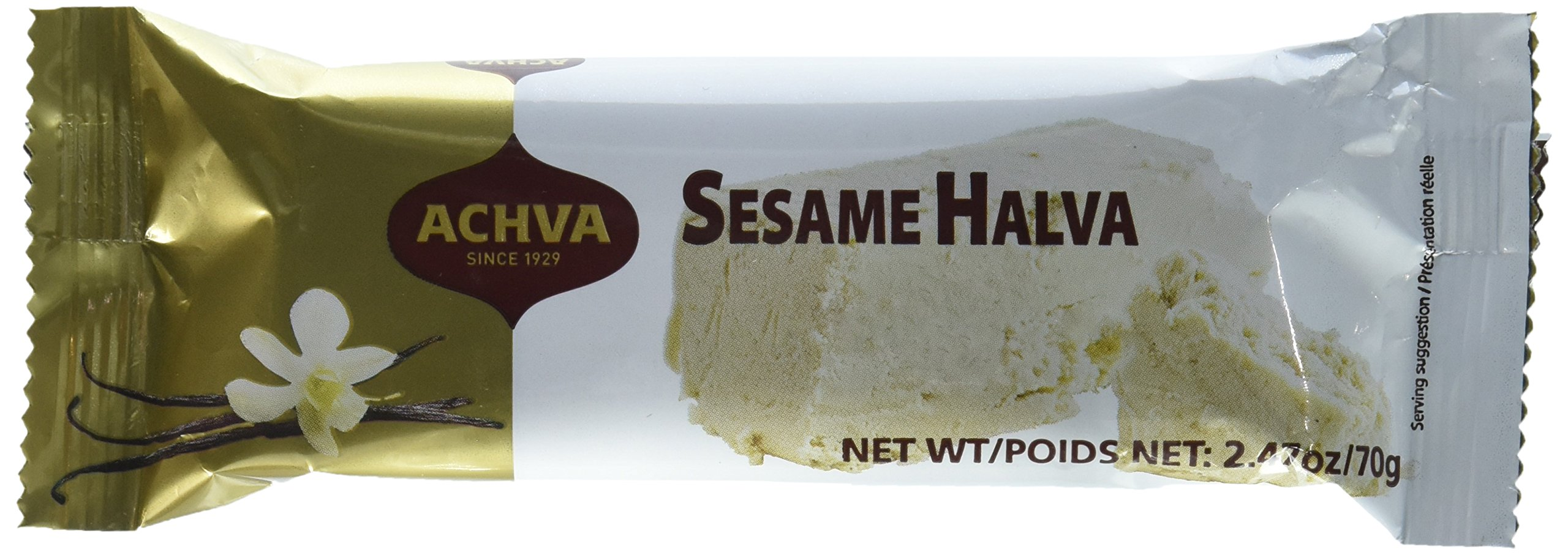 Achva Vanilla Flavor Kosher Halva Bars 25 Pack by Achva