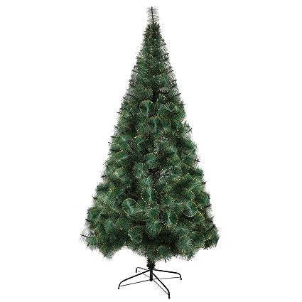 luckyermore 8 ft modern christmas tree 460 tips full pet branches with golden glitter metal