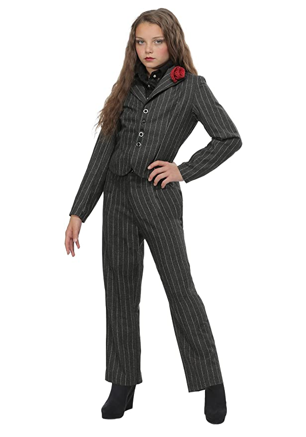 1930s Children's Fashion: Girls, Boys, Toddler, Baby Costumes Girls Gangster Costume Medium $34.99 AT vintagedancer.com