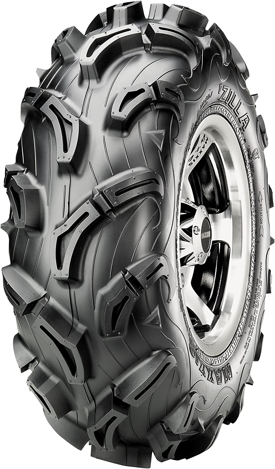 Maxxis Zilla 30mm Mud and Snow Trail ATV Front Tire 27X9-12