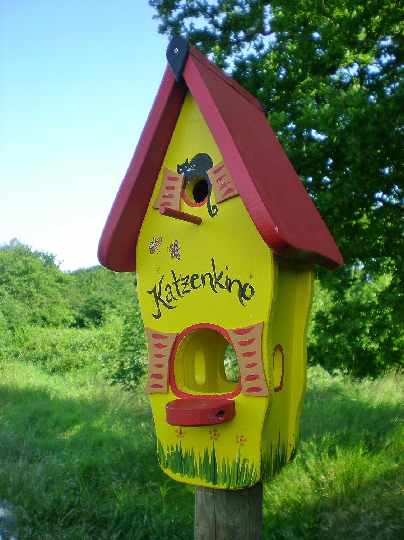 Original Die Vogelvilla, Minivilla Spezial Katzenkino, Vogelhaus & Nistkasten, 2in1