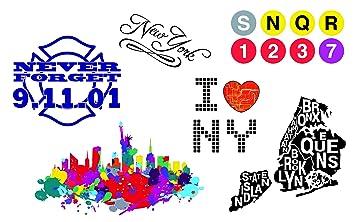 Amazon.com : Semi-Permanent New York City Temporary Tattoo Set - NYC ...