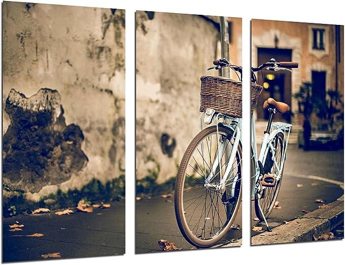 Cuadro Fotográfico Cuadro Bicicleta Vintage Tamaño total: 97 x 62 ...