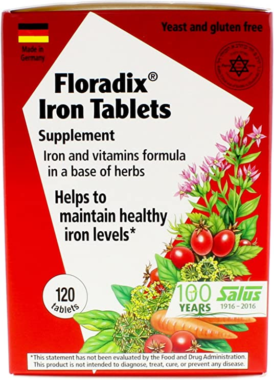 Amazon.com: Comprimidos Floradix Suplemento de hierro 120 ...