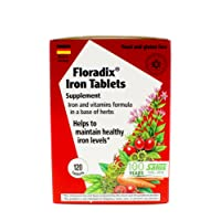 Floradix Tablets Iron Supplement 120Count XL Size - Supports Red Blood Cell Formation...
