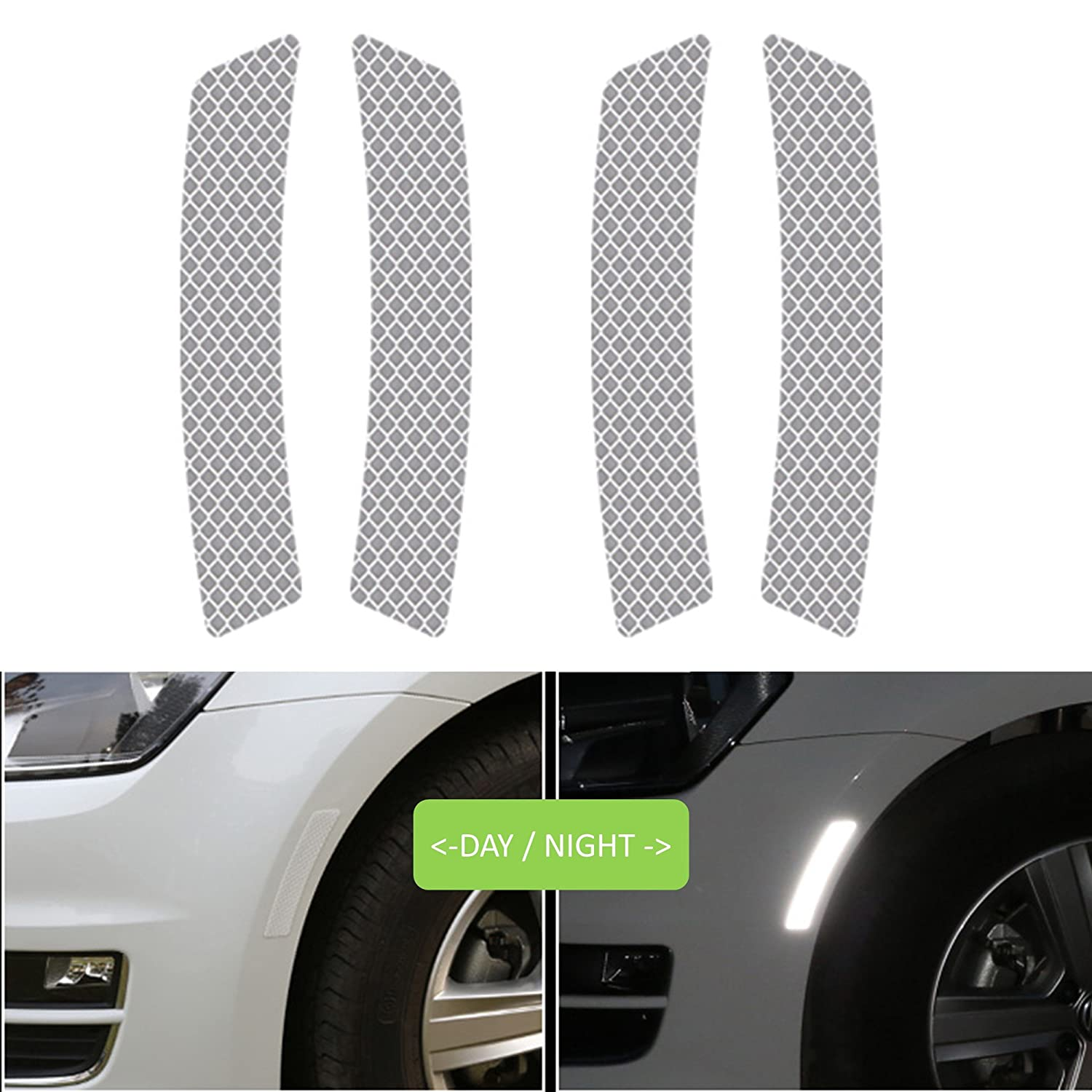 Reflective tape caution warning safety reflector strips sticker fluorescent waterproof reflective car decals for automobile car pickup truck suv rv boat