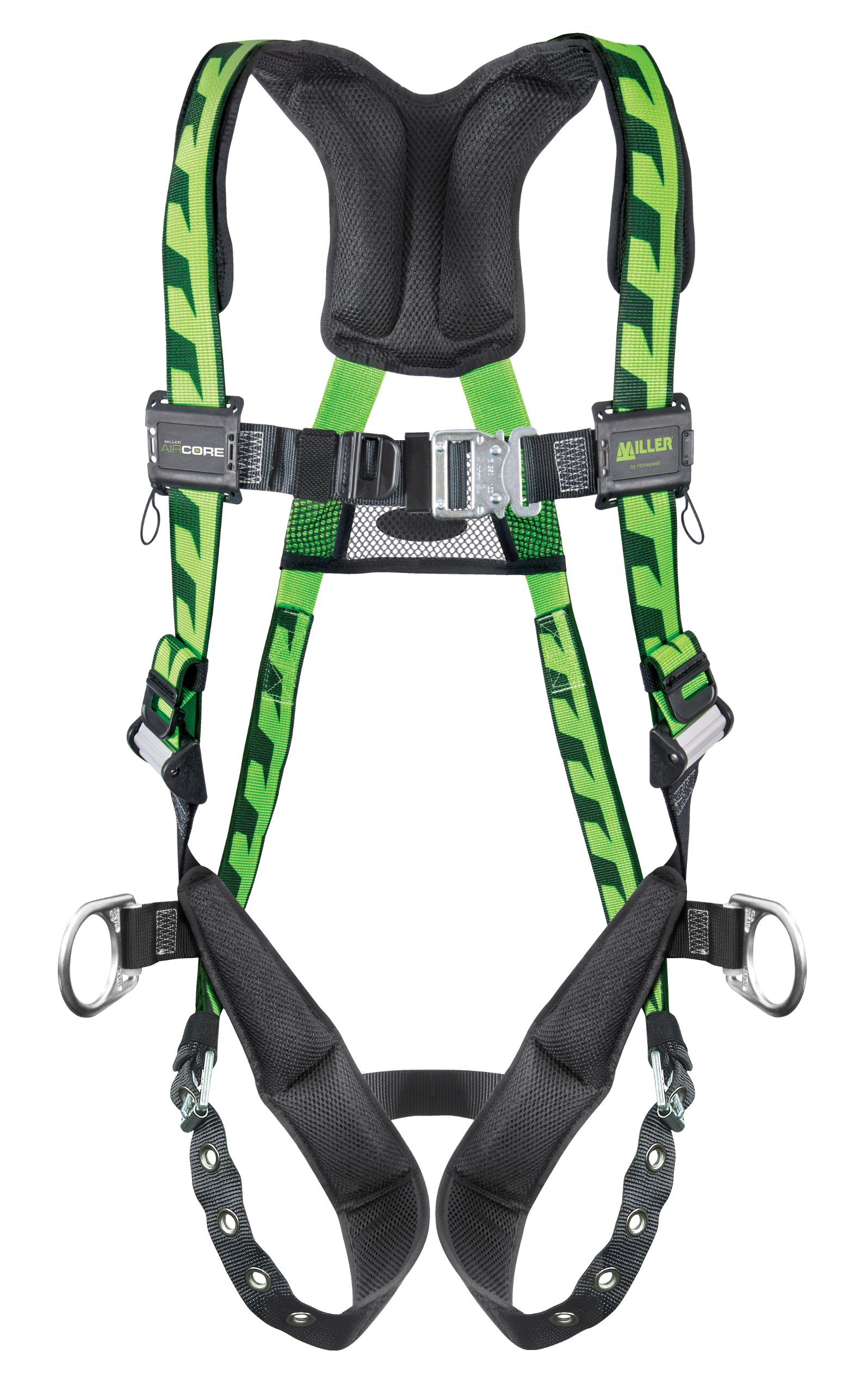 Miller Titan by Honeywell AC-QC-BDP/UGN AirCore Full Body Harness, Large/X-Large, Green